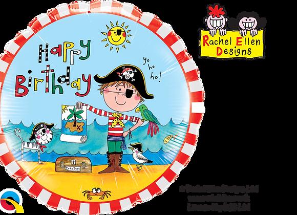 Rachel Ellen - Happy Birthday Pirate - Qualatex Small Foil Balloon