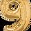 Thumbnail: Gold - 9 - Qualatex Large Foil Balloon
