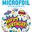 Thumbnail: Happy Birthday Super Power - White - Qualatex Small Foil Balloon