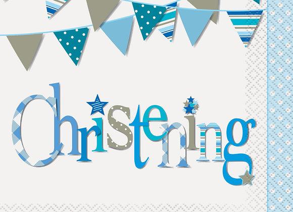 Napkins - Blue Bunting Christening