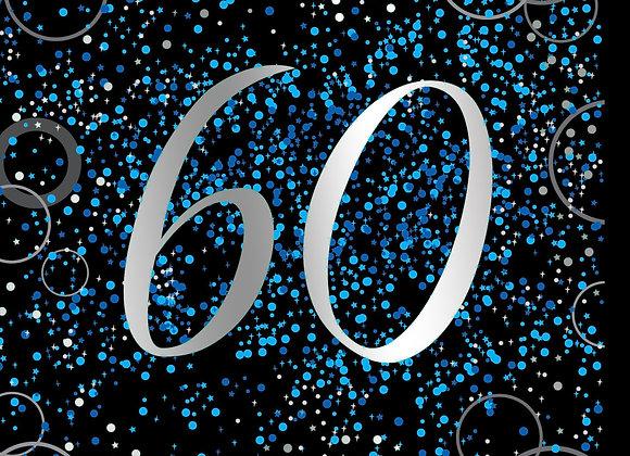 Foil Glitz 60 Blue - Napkins - Unique