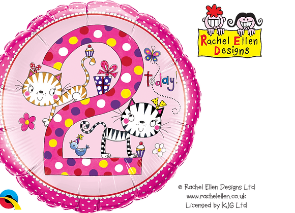 Rachel Ellen - Cats - 2 - Qualatex Small Foil Balloon