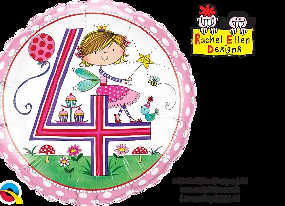 Rachel Ellen - Fairies - 4 - Qualatex Small Foil Balloon