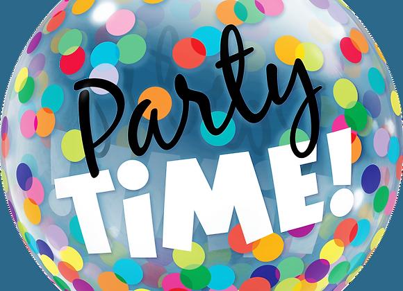 Party Time Confetti - Qualatex Bubble Balloon