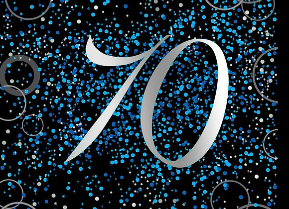 Foil Glitz 70 Blue - Napkins - Unique