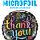 Thumbnail: Multi coloured chalk board Thank You - Qualatex Small Foil Balloon