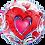 Thumbnail: Double Hearts - Qualatex Bubble Balloon