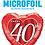 Thumbnail: 40th Anniversary Heart - Qualatex Small Foil Balloon