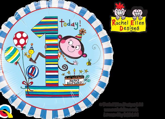 Rachel Ellen - Monkey - 1 - Qualatex Small Foil Balloon