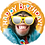 Thumbnail: Happy Birthday - Monkey - Reflective Glasses - Qualatex Small Foil Balloon