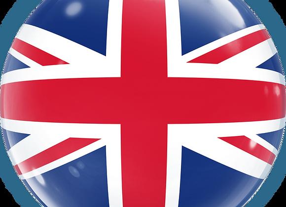 Union Jack - Qualatex Bubble Balloon
