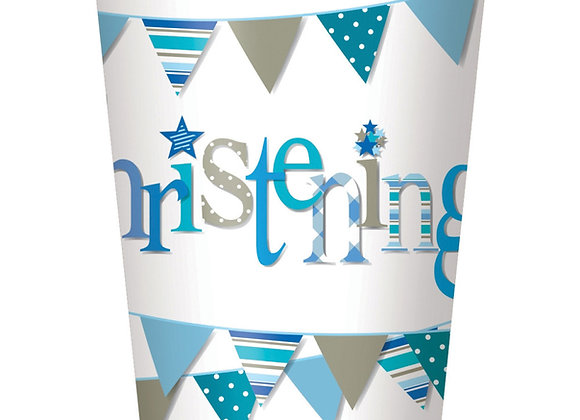 Cups - Blue Bunting Christening