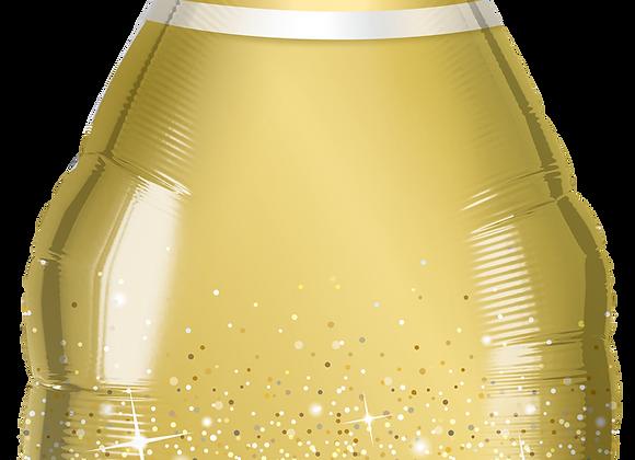Golden Bubbly wine bottle - Qualatex Large Foil Balloon