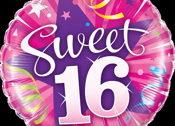 Pink - 16 - Shining Star Hot Pink -  Qualatex Small Foil Balloon