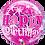 Thumbnail: Birthday Pink Starburst Sparkle - Qualatex Bubble Balloon