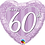 Thumbnail: 60th Anniversary Heart - Qualatex Small Foil Balloon