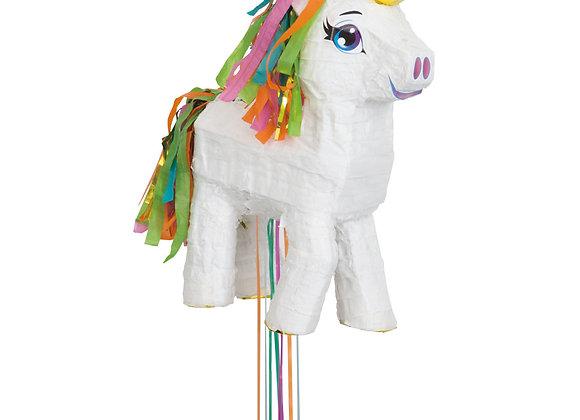 White Unicorn Pull Pinata - Unique