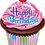 Thumbnail: Happy Birthday - Cup Cake - Qualatex Large Foil Balloon