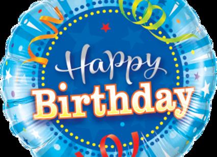 Birthday Bright Blue -  Qualatex Small Foil Balloon
