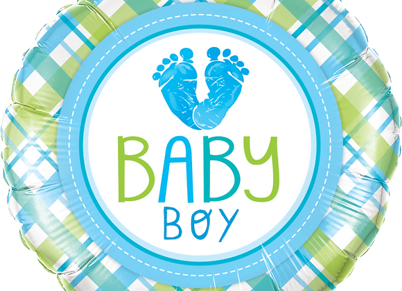 Baby Boy - Green Blue - Qualatex Small Foil Balloon