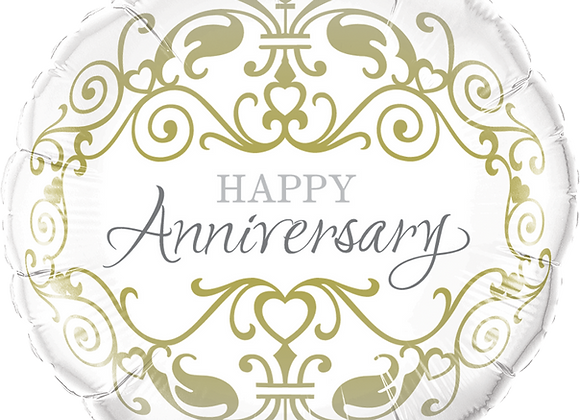 Happy Anniversary - Gold -  Qualatex Small Foil Balloon