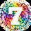 Thumbnail: Rainbow Confetti - 7 - Qualatex Small Foil Balloon