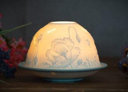 Poppy Domed Tea Light