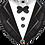 Thumbnail: Tuxedo - Black and White -  Qualatex Small Foil Balloon
