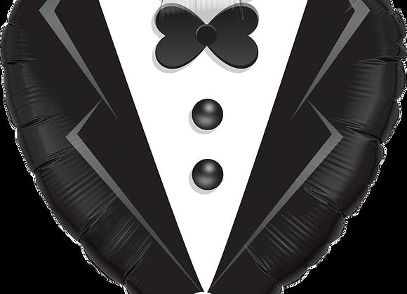 Tuxedo - Black and White -  Qualatex Small Foil Balloon