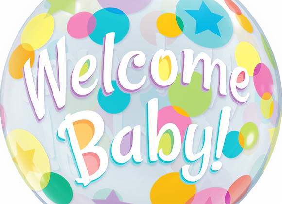 Welcome Baby Spots - Qualatex Bubble Balloon
