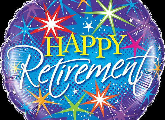 Happy Retirement - Stars -  Qualatex Small Foil Balloon