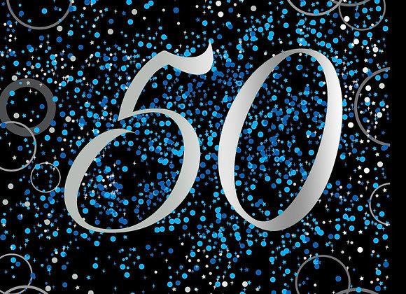 Foil Glitz 50 Blue - Napkins - Unique