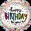 Thumbnail: Birthday Sprinkle Dots - Qualatex Small Foil Balloon