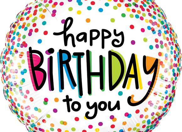 Birthday Sprinkle Dots - Qualatex Small Foil Balloon