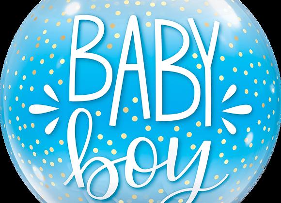 Baby Boy - Qualatex Bubble Balloon