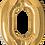 Thumbnail: Gold - 0 - Qualatex Large Foil Balloon