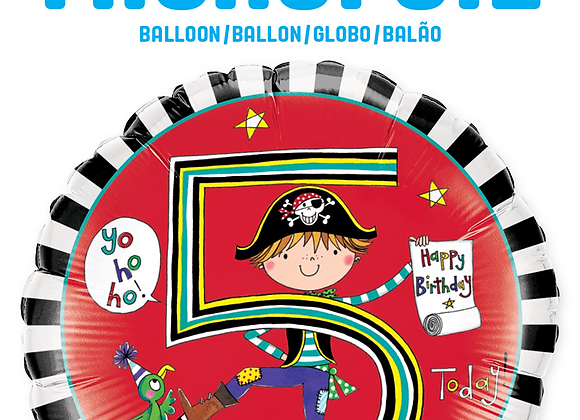Rachel Ellen - Pirate - 5- Qualatex Small Foil Balloon