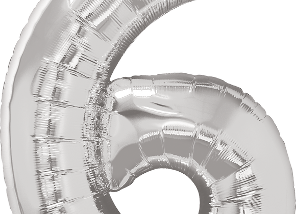 Silver - 6 - Qualatex Large Foil Balloon