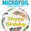 Thumbnail: Happy Birthday Peacock Feathers - Qualatex Small Foil Balloon