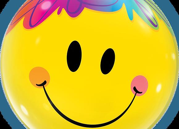 Smiley Face - Qualatex Bubble Balloon