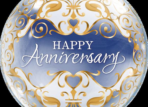Happy Anniversary - Qualatex Bubble Balloon