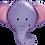 Thumbnail: Elle the Elephant - Qualatex Large Foil Balloon