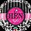 Thumbnail: Hen Night - Black and Pink - Qualatex Small Foil Ball