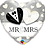 Thumbnail: Mr and Mrs = Heart - Black and White -  Qualatex Small Foil Balloon