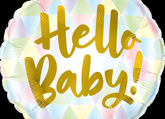 Hello Baby - Qualatex Small Foil