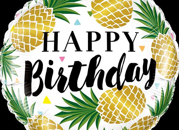 Golden Pineapples - Qualatex Small Foil Balloon