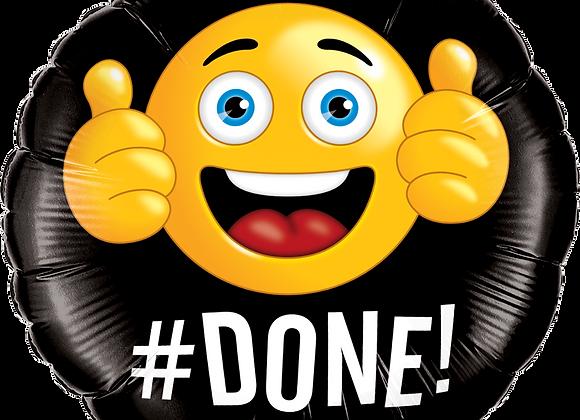 Emoji - #Done - Qualatex Small Foil Balloon