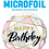 Thumbnail: Happy Birthday Marble Rectangles Pink -  Qualatex Small Foil Balloon