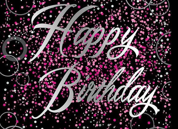 Foil Glitz Happy Birthday Pink - Napkins - Unique