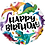 Thumbnail: Happy Birthday Dinosaurs - Qualatex Small Foil Balloon